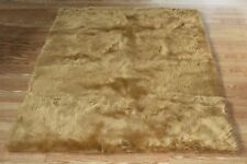 CAMEL Faux FUR area Rug 2' x 4' washable non-slip MADE IN USA