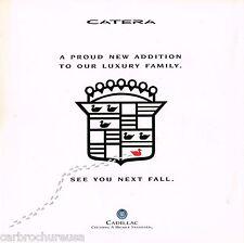 1997 CADILLAC CATERA Intro Brochure / Catalog / Pamphlet
