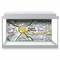 Fish Tank Background 90x45cm - Nogent-le-Rotrou France French Travel Map  #45882