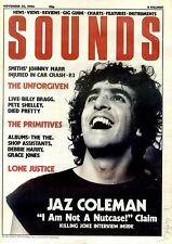 22/11/86pg01 Sounds Newspaper Cover Page : Rolling Stones Jaz Coleman