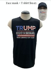 Trump 2020  T Shirt + Face Mask  Breathable Washable & Reusable Face Covering