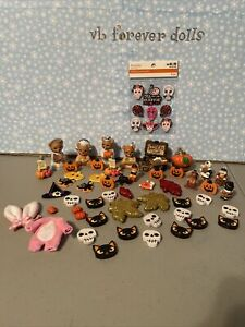 dollhouse miniatures mixed lot-Halloween 😈😈😈🖤🖤😈