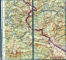 Lofer Weißbach Ramsau 1955 Teilkarte/Ln. Brandlhof Reit Hintersee Hintertal Au
