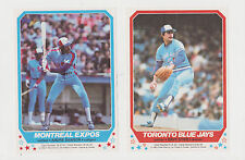 1982 O-Pee-Chee Mini Posters Set Montreal Expos Toronto Blue Jays Gary Carter +