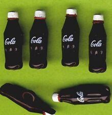TINY COLA BOTTLES - Drink Fizzy Pop Junk Food Novelty Dress It Up Craft Buttons