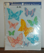 Butterflies A-86 Decoral Handpainted Waterslide Decals New Old Stock 1986