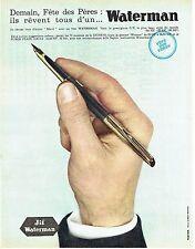 Publicité Advertising  0817  1962  le stylo plume Jif Waterman Super Flair