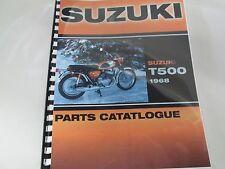 Suzuki T500  parts manual  1968  T500 Cobra