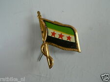 PINS,SPELDJES 50'S/60'S COUNTRY FLAGS 75 SYRIA VINTAGE VERY OLD VLAG