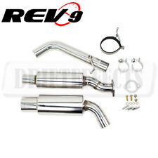 """Rev9 Single Exit Catback Exhaust Stainless Steel 3"""" Piping For 370Z 2009-2017"""