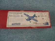 Vintage GULFHAWK JR  50  Airplane Model Kit D-10 Balsa Wood in Box