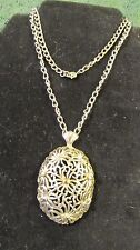 """Monet Floral 2 1/2""""  Pendant with 22"""" Chain"""