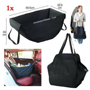 Universal 60*30*34cm Car Rear Seat Back Bag Sundry Storage Hammock Look Luggage