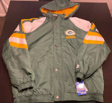 Vintage Green Bay Packers Starter Puffy Lined Jacket Size XXL NWT