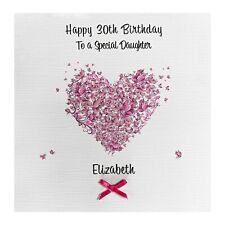 Handmade PERSONALISED Birthday Card Butterfly Heart 18th 21st 32nd 50th 70th
