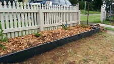 200mm high Black recycled plastic garden edging. Curves easily
