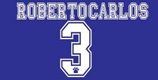 Roberto Carlos 3 Real Madrid 1996-1998 Away Football Nameset for shirt