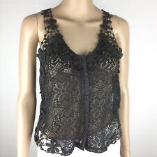 Kimchi Blue Urban Outfitters Brown Crochet Top Size XS (AL1)