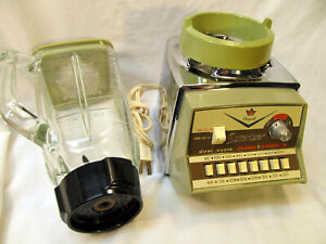 Vintage Osterizer Imperial Pulsematic #864 Avocato Green Spotless!