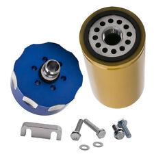 Blue 6.6L Fuel Filter Adapter Kit For GM Duramax GMC Sierra 2500 HD 2001-2016