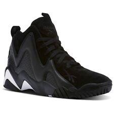 Reebok Men's Kamikaze II ATL-LAX Black Leather / Suede Athletic Sneakers CM9416