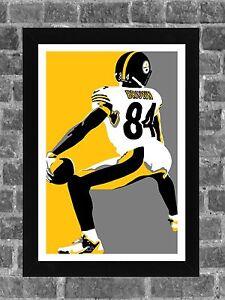 Pittsburgh Steelers Antonio Brown Twerk Touchdown Dance Sports Print Art