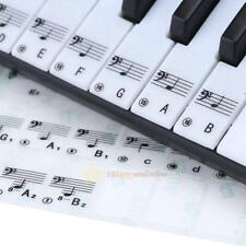4x Transparent Removable Music Piano 61 Keyboard Note Key Stickers for Learning