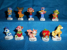 STRAWBERRY SHORTCAKE Classic Set 10 Mini Figures FRENCH PORCELAIN FEVES Figurine