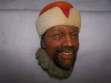 """Bossons Chalk Ware Hand Painted Head England """"Himalayan"""" C. 1966 #1029"""