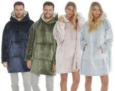 Mens Ladies Unisex Oversized Huggable Long Soft Fleece Hooded Blanket Hoodie