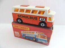 Matchbox Superfast 65b Airport Coach - SCHULBUS - Mint/Boxed