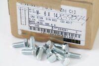 1 Karton á 500 Sechskantschrauben M6 x 14 SBE DIN 933 ISO 4017 ZNC Cr3 839044