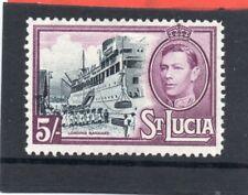 St.Lucia GV1 1938-48 5s black & mauve P12.5 sg 137 HH.Mint