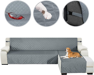HDCAXKJ Sectional Couch Covers for Dogs 3-Pieces Water Resistant L Shape Sofa Co