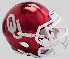 OKLAHOMA SOONERS NCAA Riddell SPEED Authentic MINI Football Helmet CHROME