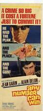 ANY NUMBER CAN WIN Movie POSTER 14x36 Insert Claude Cerval Jean Gabin Alain