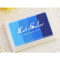 Multi Colors Ink Pad Oil Based For Rubber Stamp Paper Wood Craft Fabric DIY