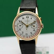 1940s ULYSSE NARDIN SINGLE PUSHER MEDICAL CHRONOGRAPH 18K SOLID GOLD MEN'S WATCH