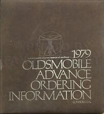 1979 Olds Advance Ordering Dealer Album Supreme Cutlass 98 88 Toronado Starfire