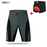 Cycling Baggy Shorts Mens Loose-Fit MTB Mountain Bike Casual Short Pants Pads