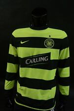 2009-10 NIKE Celtic GLASGOW Long Sleeve NEON Away Shirt SIZE M (adults)