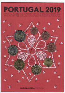 KMS, Eurokursmünzensatz 2019 aus Portugal, FDC, vz, original, offiziell