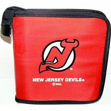 NEW JERSEY DEVILS CD/DVD/GAME VIDEO STORAGE CARRYING CASE NHL ORGANIZER BAG NYL