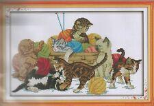 Counted Cross Stitch Kit, Playful Kittens
