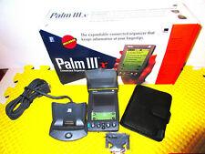 Palm Pilot Iiix 3com Handheld Pda & Modem & Docking Station