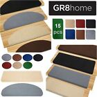 Non Slip 15Pcs Carpet Stair Treads Floor Mat Protection Cover Step Staircase Pad
