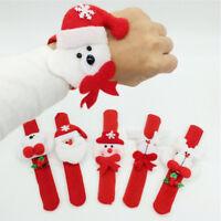2x t Slap Wristband Bracelet For Christmas Xmas Party festival Decor FO