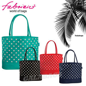 Damen Strand Bade Sommer Tasche   gepunktet   viele Farben   50294   Super Preis