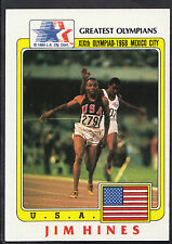 Topps 1983 Greatest Olympians - Card No 70 - 100 Metres Sprinter Jim Hines - USA