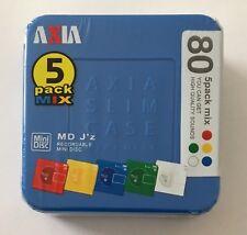 Axia MD 80 J'z Paki Minidisc - Blue 5 Pack - Sealed